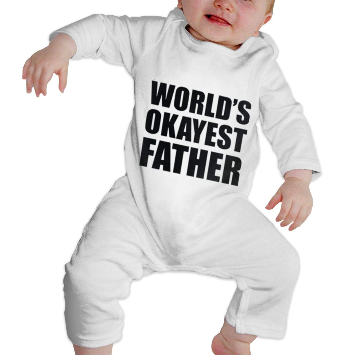 Okayest Father Unisex Long Sleeve Baby Gown Baby Bodysuit Unionsuit Footed Pajamas Romper Jumpsuit
