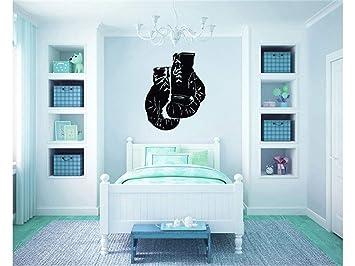 Adesivi da Parete Citazioni Camera da Letto Soggiorno Decorazioni Parete  Sport Wall Stickers Guantoni da boxe per soggiorno o camera da letto home  ...
