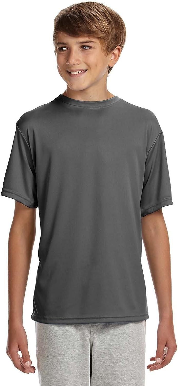 A4 Boy's Cooling Performance Crew Shirt
