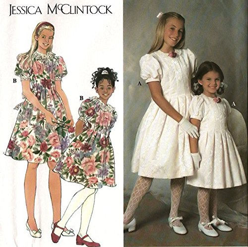 Simplicity 7462 Sewing Pattern ~ Jessica McClintock Child's, Girl's Special Occasion Dress, First Communion, Sizes -