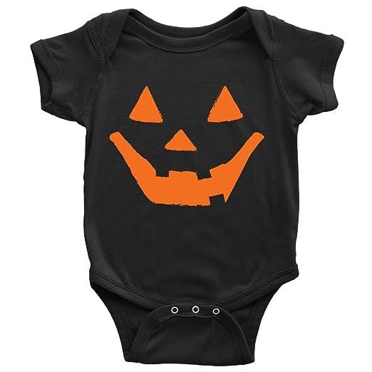 86a70b750 Jack-O-Lantern Onesie Funny Halloween Pumpkin Face Baby Bodysuit (NB)