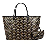 Stylesty Fashion Shopping PU Tote Bag, Designer Shoulder Handbags with Key Ring
