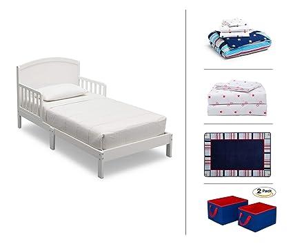 Amazon.com: Delta Children Toddler Bedroom Set, Boys 5-Piece (White ...