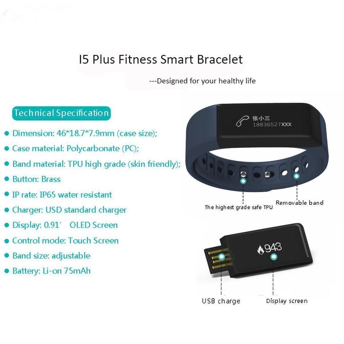 fitness tracker watch huiheng i5 plus sports bracelet wireless rh amazon co uk sports tracker user guide savfy fashion sport tracker user manual
