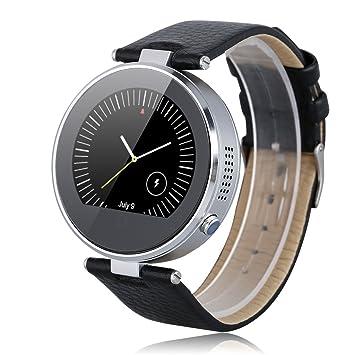 Zgpax - Smartwatch Reloj Inteligente Movil Ios Android (Siri, Correa Adjustable, Bluetooth, Despertador, Podómetro, Sueño, Remoto de Cámara), Plateado