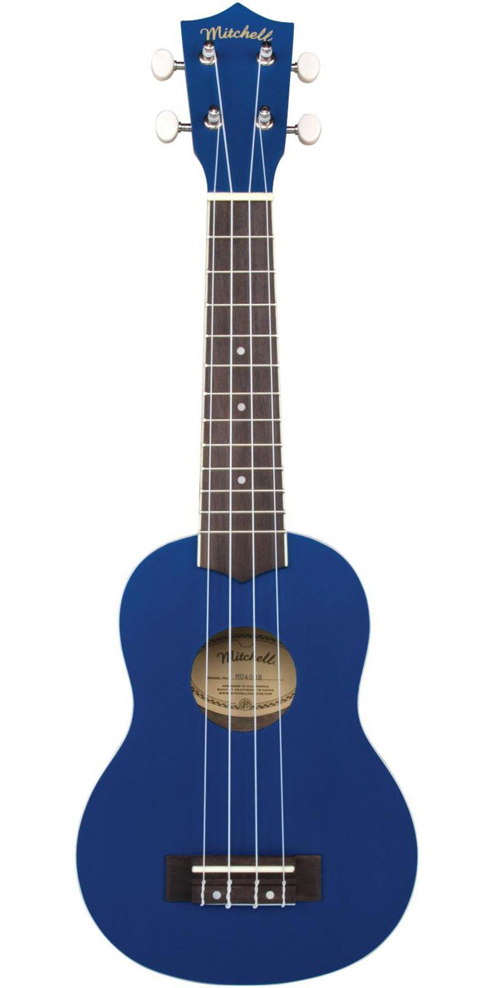 Mitchell MU40 Soprano Ukulele Deep Blue by Mitchell