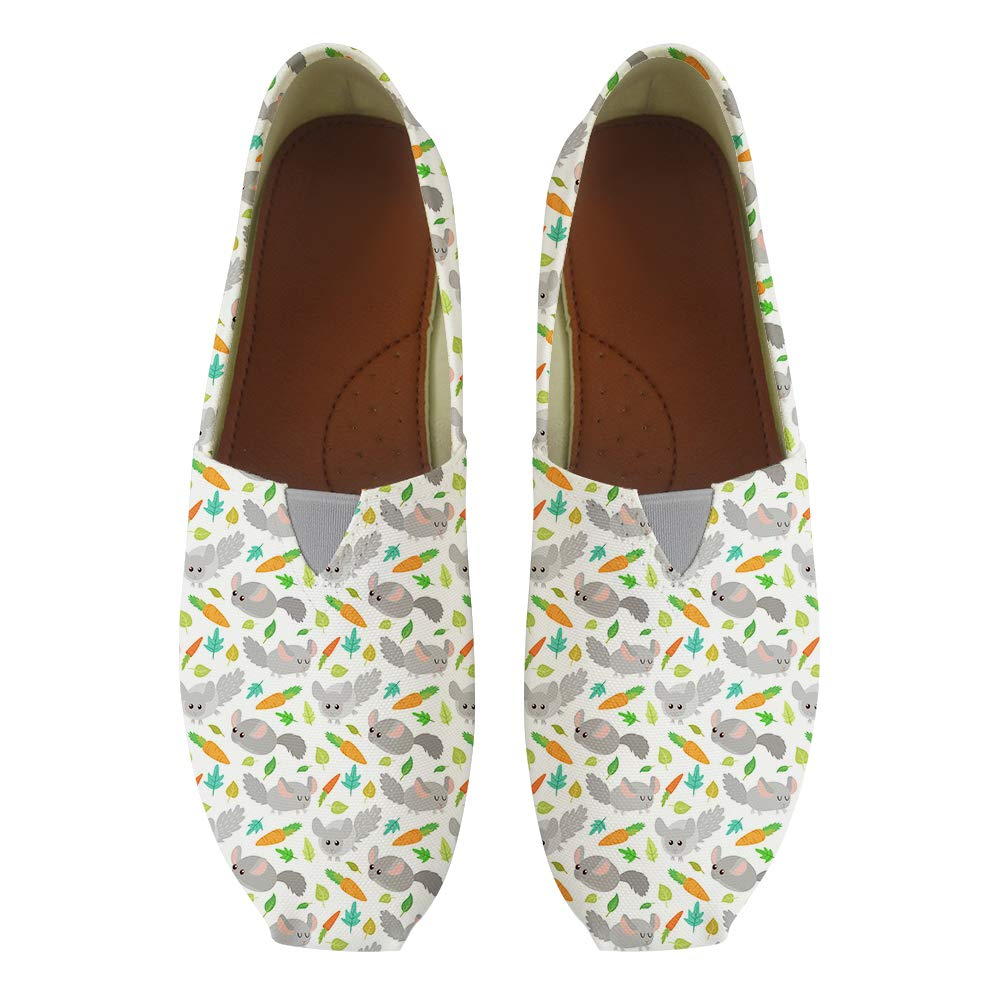 Classic Canvas Slip-On Lightweight Driving Shoes Soft Penny Loafers Men Women Chinchilla Love Carrot