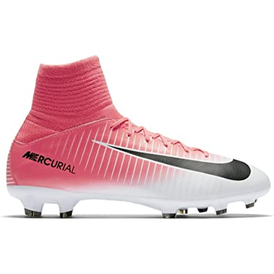 newest cb5ff 106f0 Nike Junior Mercurial Superfly V FG Football Boots 831943 Soccer Cleats (UK  4 US 4.5