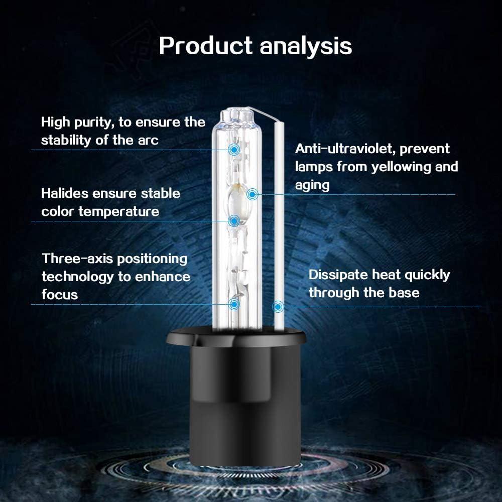 55W H3 Kit di Conversione Xenon HID per Auto Ballast HID Ultrasottili Avvio Rapido Xenon Estremamente Luminoso Bianco 6000K
