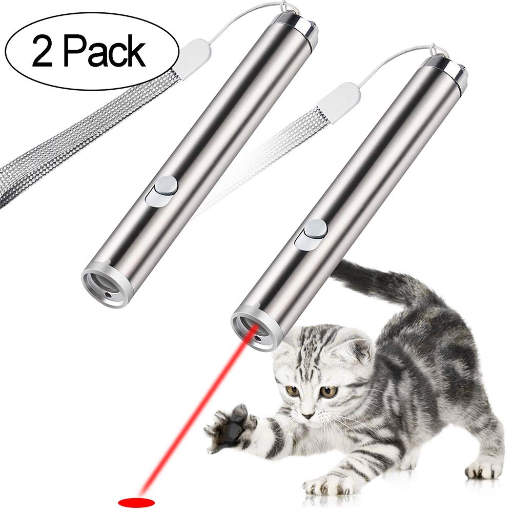 Pets' Party Cat Toys Interactive LED Light Cats Teaser Wand Toy 2 Pack