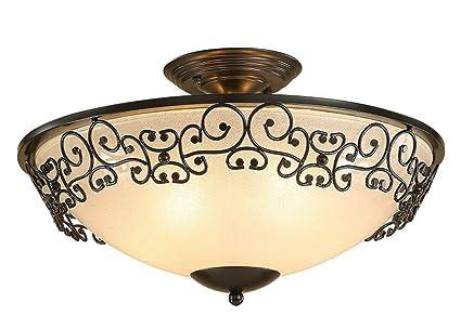 Amazon.com: XQY - Lámpara de techo de hierro con diseño ...