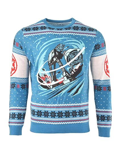 165ccce9a096 Star Wars Ugly Christmas Sweater AT-AT Battle of Hoth for Men Women ...