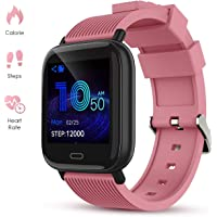 GOKOO Activity Fitness Tracker Smart Watch with Heart Rate Monitor Sleep Monitor Remote Camera (Pink)