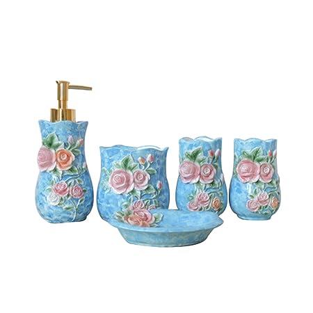 Aycc 5pc Bathroom Accessories Bath Set Bath Set Soap Dispenser