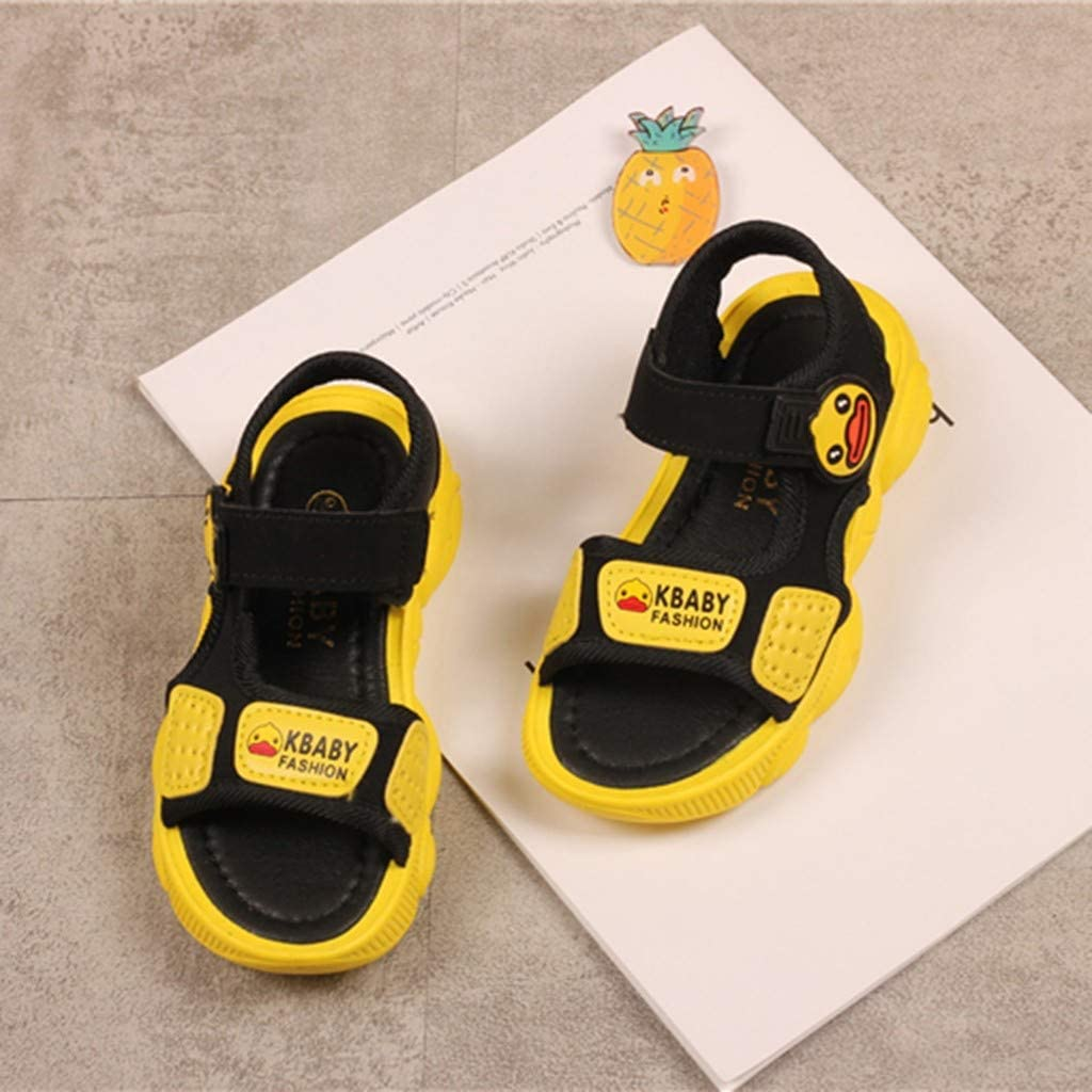 Toddler//Little Kid//Big Kid Boys Girls Summer Beach Closed Toe Sandals Outdoor Athletic Sport Water Sandal Shoes Children Infant Kids Baby Boys Cute Girls Cartoon Duck Beach Sport Sandals Shoes