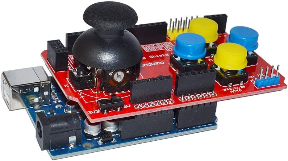 For Arduino-HENG Module Kits Accessory Joystick Shield Expansion Board Analog Keyboard and Mouse Function Joystick Shield V1.2