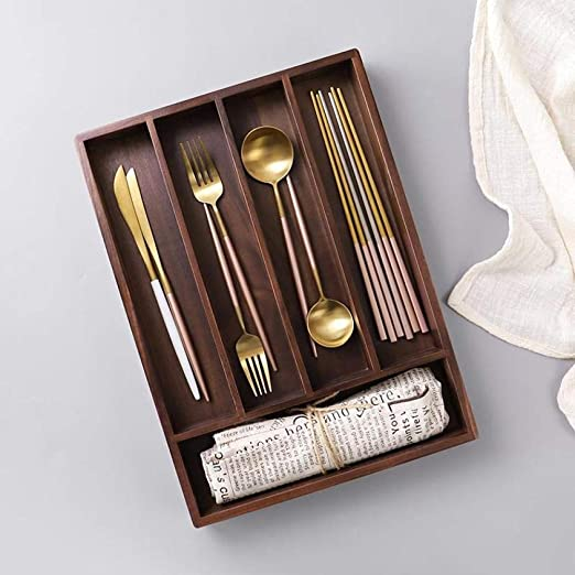Bandeja de cajones de bambú extensible,Bandejas para ...