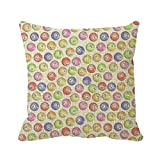 Goodaily Pillowcase Bingo Balls Throw Pillow Cover 20inch