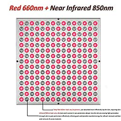 SGROW 45W Red Led Light Therapy Deep Red 660nm and Near Infrared 850nm Led Light Therapy Panel ...