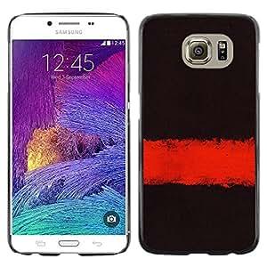 LECELL--Funda protectora / Cubierta / Piel For Samsung Galaxy S6 SM-G920 -- Deep Dark Black Meaning Clean Minimalist --