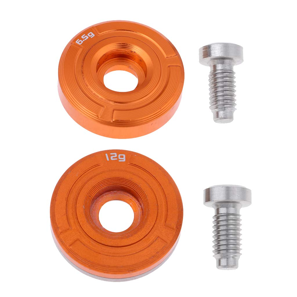 Baosity 2Pcs/Set (6.5g & 12g) Golf Weight with Screw Replacement for Cobra King F7 Golf Clubs Accessories - Orange by Baosity