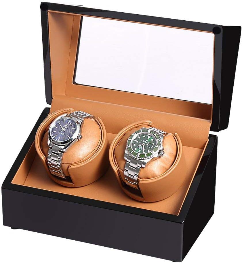 L.HPT Caja Giratoria Reloj Automatico Bateria,Watch Winder 2 Relojes Pilas,Caja Giratoria,Caja para Relojes Automaticos,Negro: Amazon.es: Deportes y aire libre