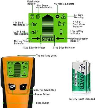 Fastobuy Leitungssucher Ortungsgerät 5 In 1 Multifunktions Wand Scanner Detektor Mit Lcd Anzeige Und Audioalarm Für Stromleitung Metall Bolzenerkennung Baumarkt
