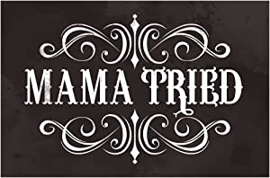 Mama Tried Retro Country Music Cool Wall Decor Art Print Poster 12x18