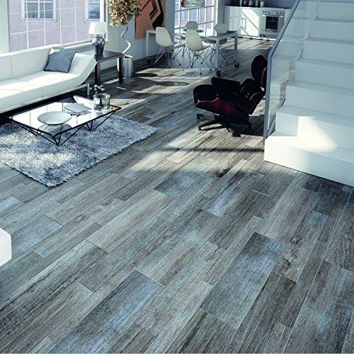 SomerTile FGFROVGR Rovere Gris Porcelain Floor/Wall Tile, 8 x 26 Inch - Delorean Gray (Case of 12)