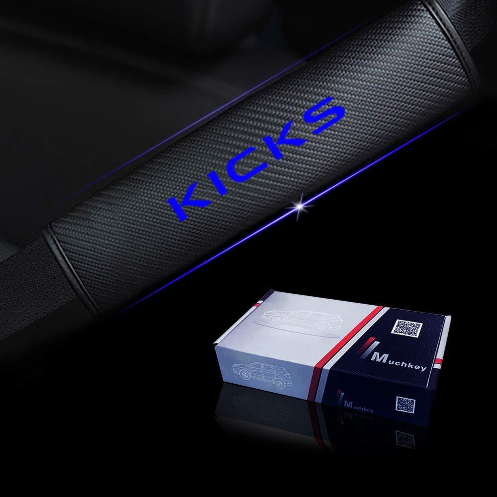 for Nissan Kicks Car Seat Belt Shoulder Strap Protect Pads Cover No Slip No Rubbing Soft Comfort 2Pcs White