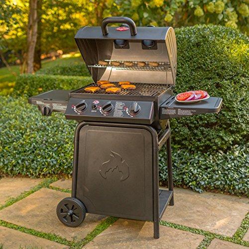 Char-Griller E3001 Grillin' Pro 40,800-BTU Gas Grill, Black