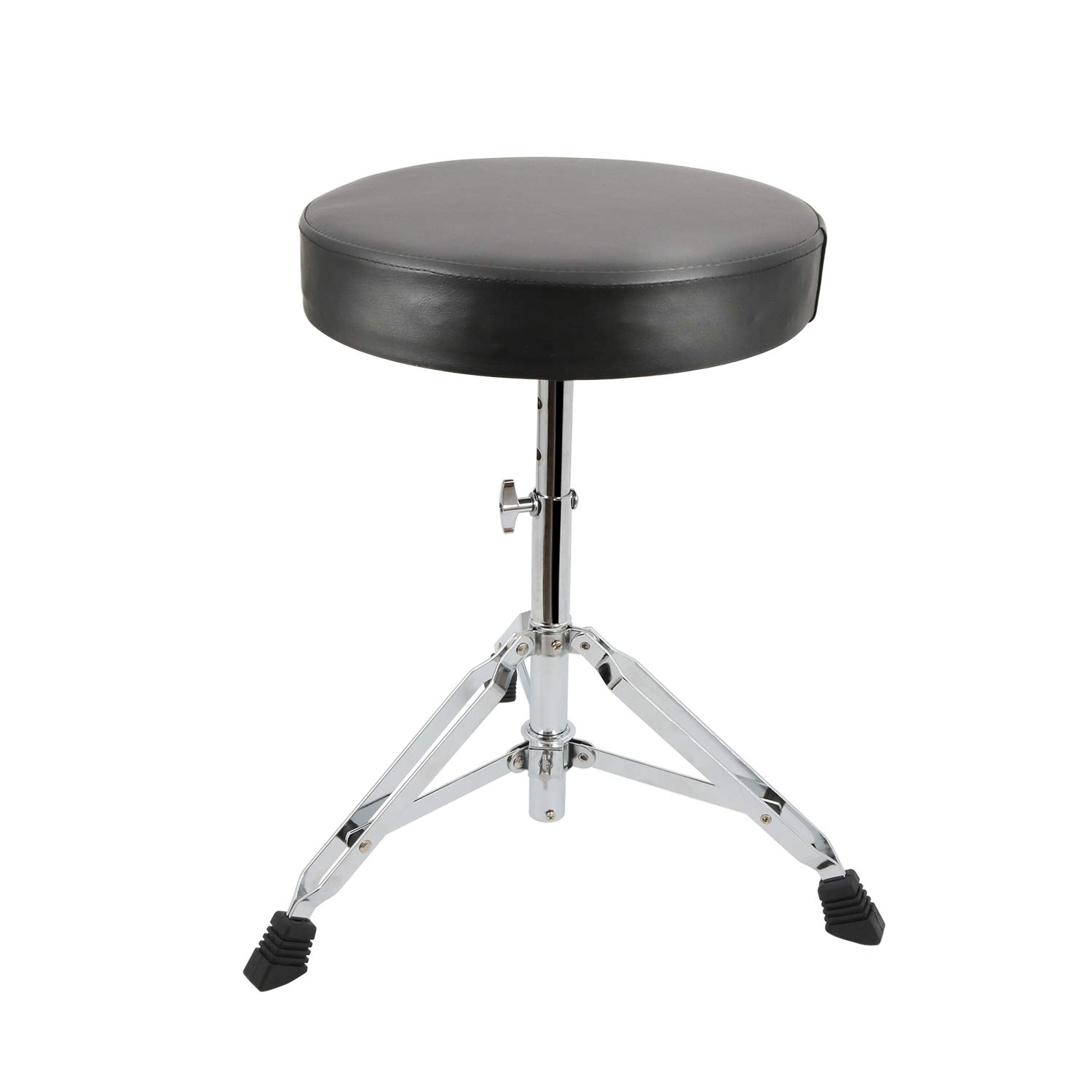 EastRock Universal Drum Throne,Padded Drum Seat Rotatable Height Adjustable drumming Stools with Anti-Slip Feet for Adults and Kids