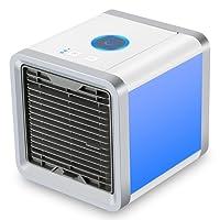 Refroidisseur D'air Portable USB Ventilateur 3 EN 1 Réglable Air Climatiseur Mini Air Refroidisseur Humidificateur Purificateur 7 LED Couleurs pour Maison /Bureau /Camping