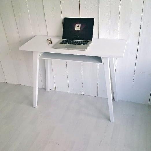 Compacto escritorio y laptop mesa Bremen, Blanco, 100 cm ancho ...