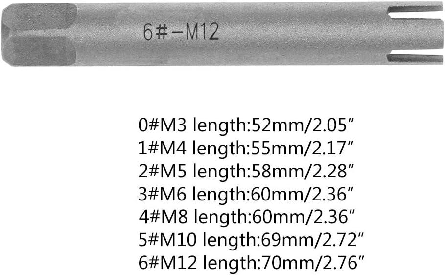 Juego de brocas PINH gu/ía para extractor Broken Taps destornillador de alambre simple 3//4 Claw Metric Drill M3-M12