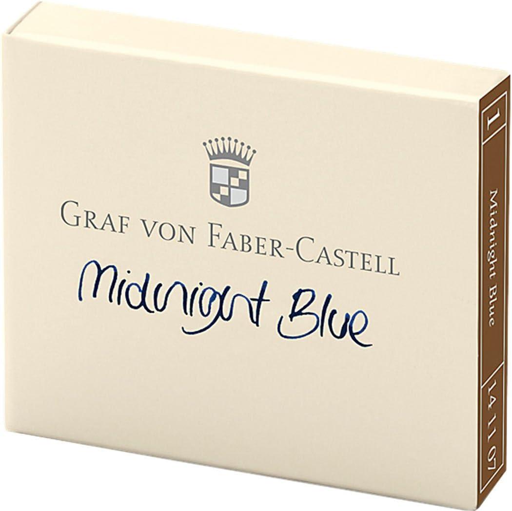 141107 Graf von Faber-Castell Ink Cartridges Midnight Blue Set of 6