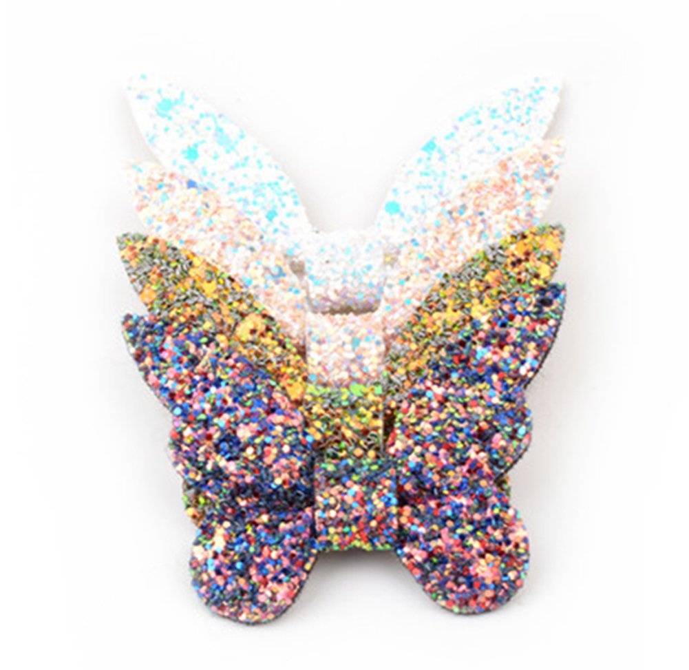 Kanggest Horquilla de Mariposa de Lentejuelas de Cuero para Clips de Cabeza de Beb/é Clips de Pelo Ni/ña Decoraci/ón de Cabello de los Ni/ños
