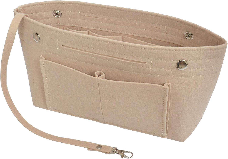 YIICOOLY Felt Tote Handbag Purse Organizer Insert Divider Shaper Bag in Bag