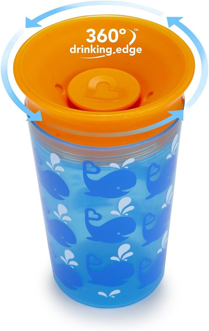 Munchkin Miracle 360 /° Tasse dentra/înement d/écor/é baleines bleues 177 ml