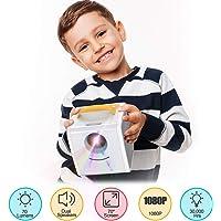 Excelvan Q2 Video Mini Proiettore Portatile per Bambini Multimedia Domestico Supporto Full HD 1080P, Home Cinema