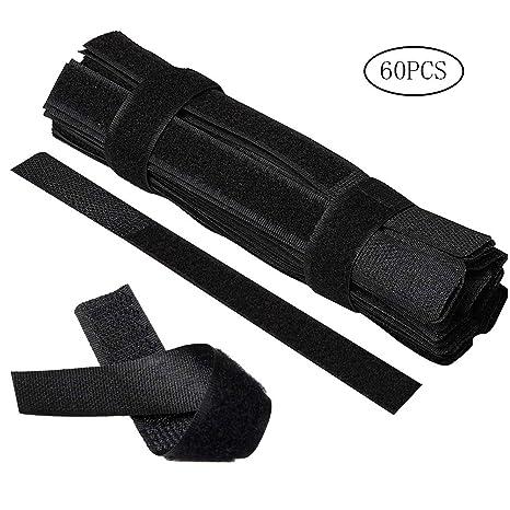 Zhiye - 100 Bridas Reutilizables de Velcro, Reutilizables, para organizar Cables, para Ordenador
