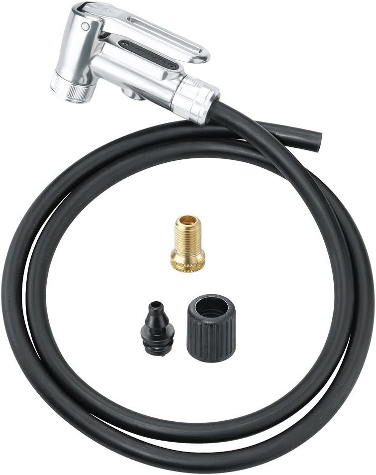 Universal Silca Locking Schrader Valve Chuck Inflator Head Floor Pumps  Air Hose