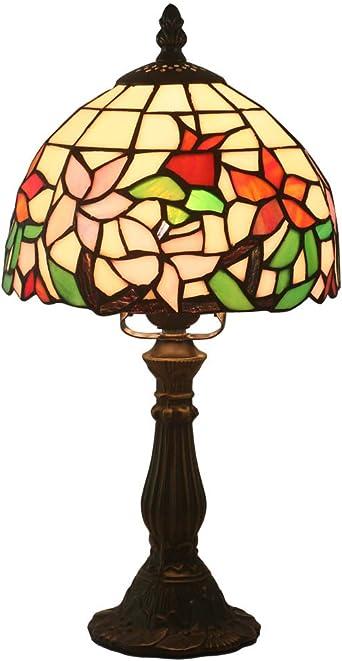 FABAKIRA Tiffany Estilo Lámpara de Mesa 8 Pulgadas Lámpara de ...