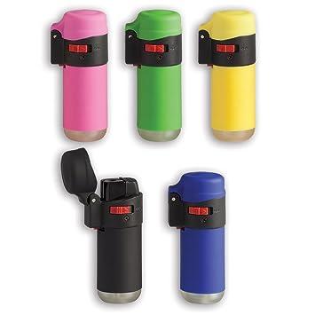 Mechero Ciao Turbo Gummy Tube, batería, llama resistente al viento: Amazon.es: Hogar