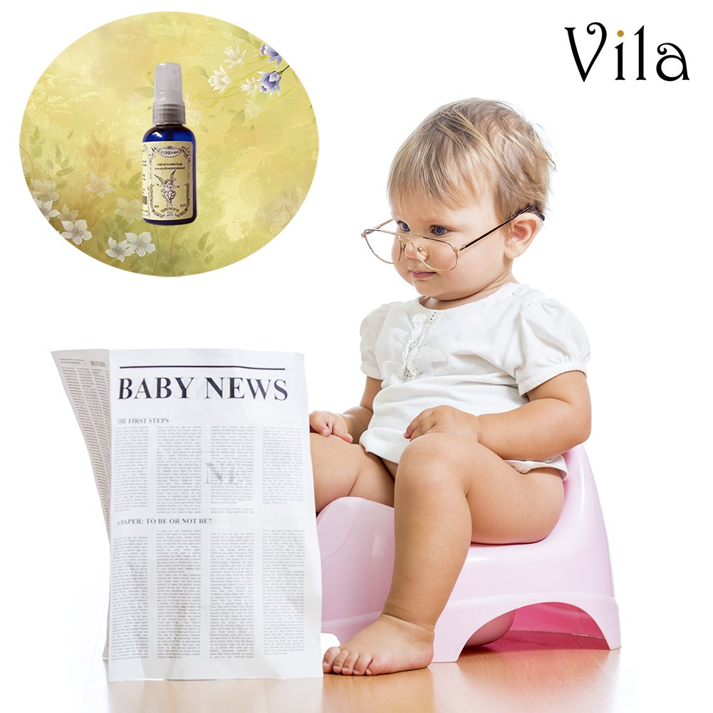 Lemongrass Toilet Spray by Vila - Prevent Bathroom Odors - 100% Essential Oils - No More Poop Smell - Deodorizer, Neutralizer and Freshener all in one 2oz Bottle