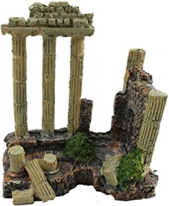 Aquarium Ornaments Decorative Marbles Rocks Fish Tank Decoration Aquarium Landscaping Home Decoration Solid Retro Ruins Roman Column