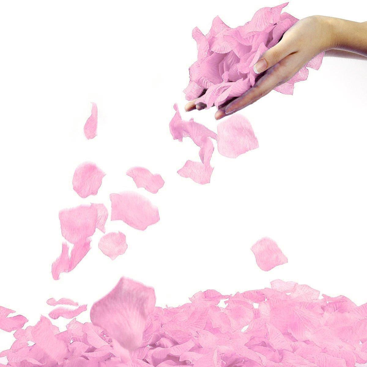 シンプルさ1000個不織布ローズ花びら結婚式、記念日、パーティーデコレーション B07DD92Y71 ライトピンク