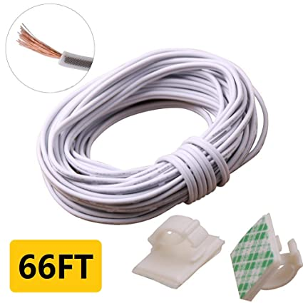 Wire Colors For Extension Cord: Amazon.com: 20m(66ft) 20Awg 2Pin Extension Cable Wire Cord Line for rh:amazon.com,Design