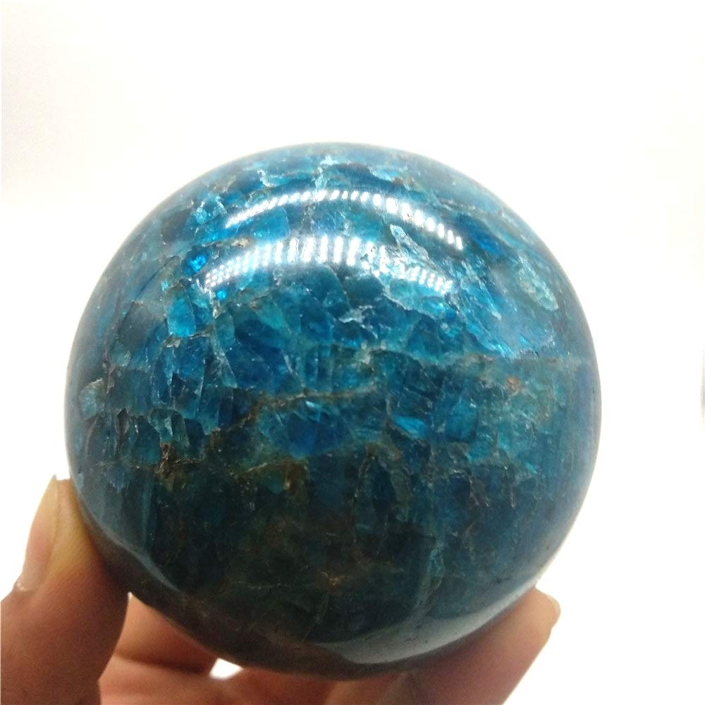 LIXUAN Blue Apatite Crystal Sphere Apatite Sphere Ball Healing Crystal Ball Orbs Mineral Ball Crystal Polished Stone (55-60mm) by LIXUAN