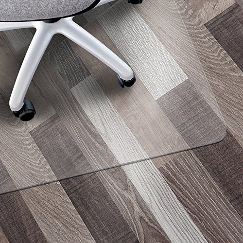 "Matladin Upgraded Heavy Duty 48"" x 30"" PVC Chair Mat for Hardwood Floor, Rectangular 3mm Transparent Odorless Desk Chair Mat for Hard Floor, Wood or Hard Surface Flooring Protector for Office Home"